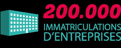 200000 immatriculations d'entreprises